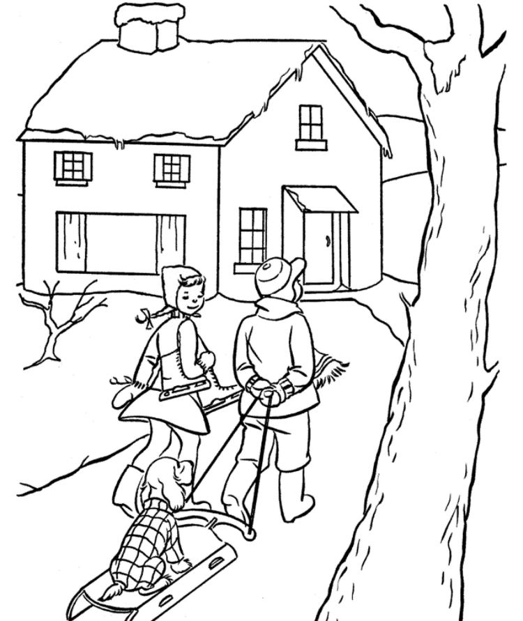 Coloring Pages Winter Kids