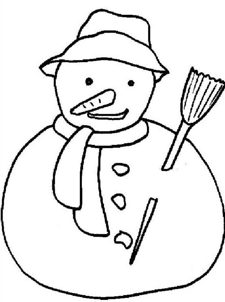 Coloring Pages Winter Snow For Kids