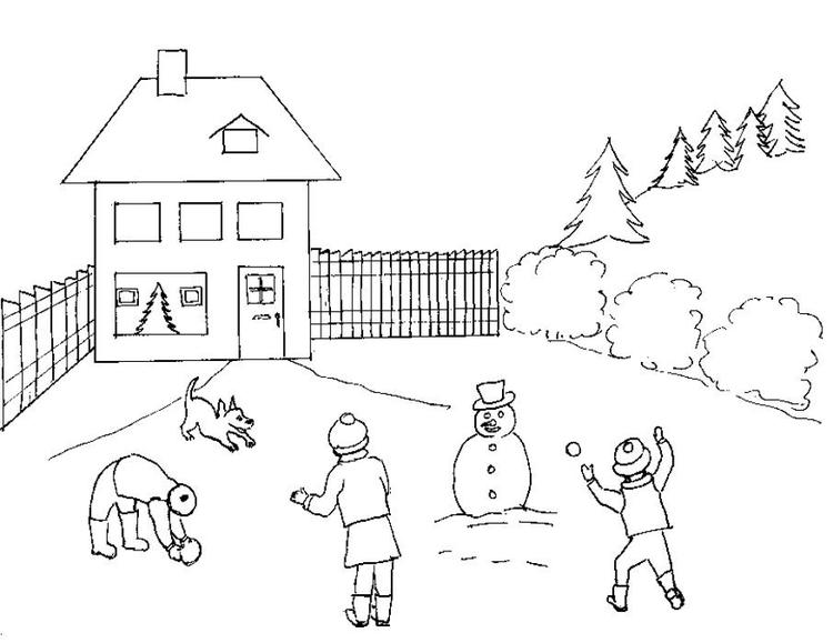 Coloring Pages Winter Snowball