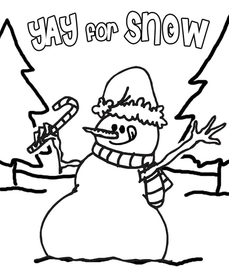 Coloring Pages Winter Yay For Snow