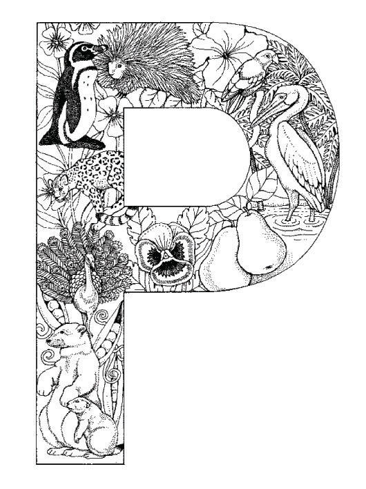 Coloring Pages Animal Plant Abc Alphabet P