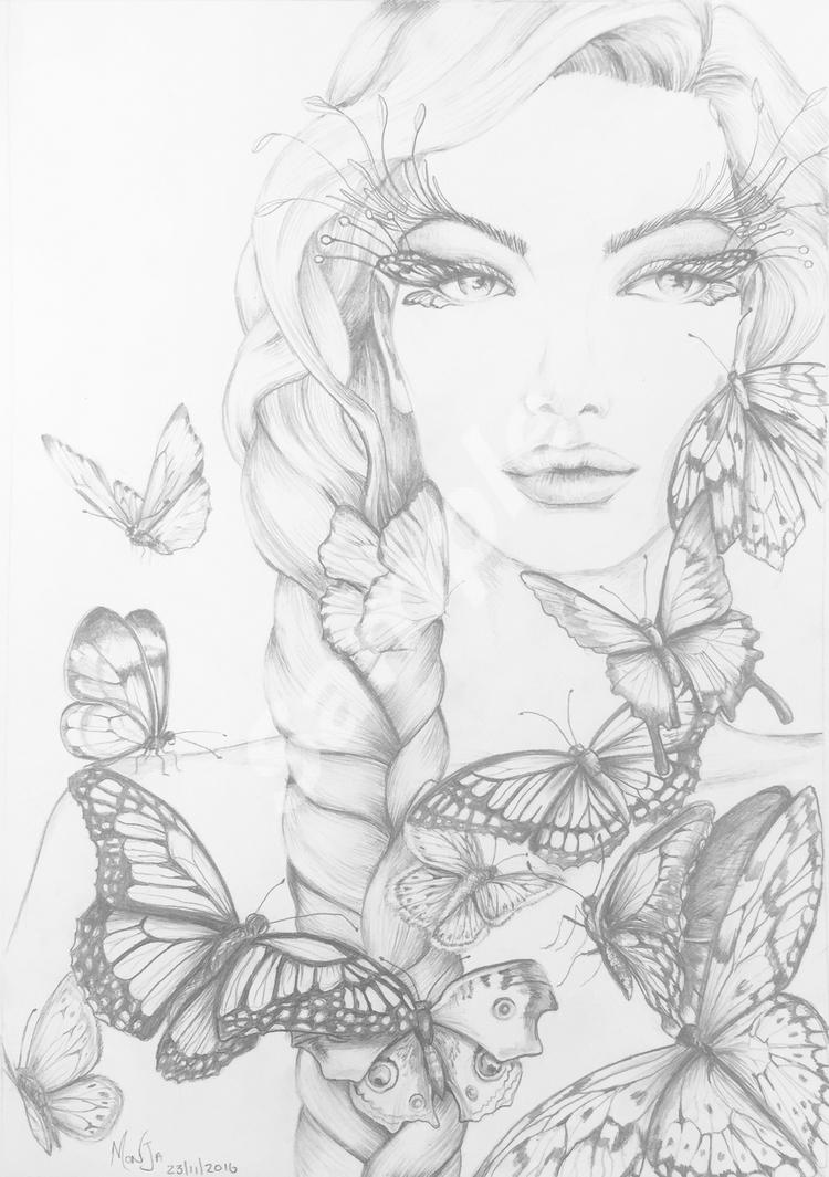 Colour My Dreams Butterfly And Women Coloring Book