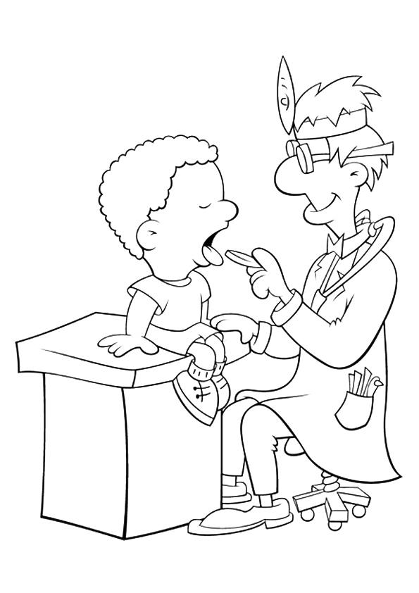Community Helpers Coloring Pages Dentist