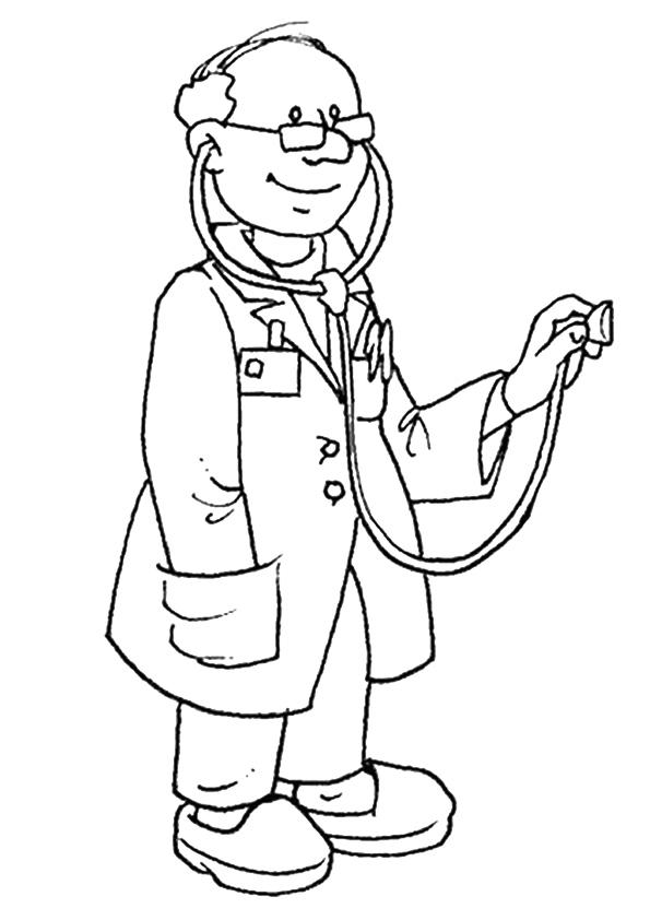 Community Helpers Coloring Pages Doctor