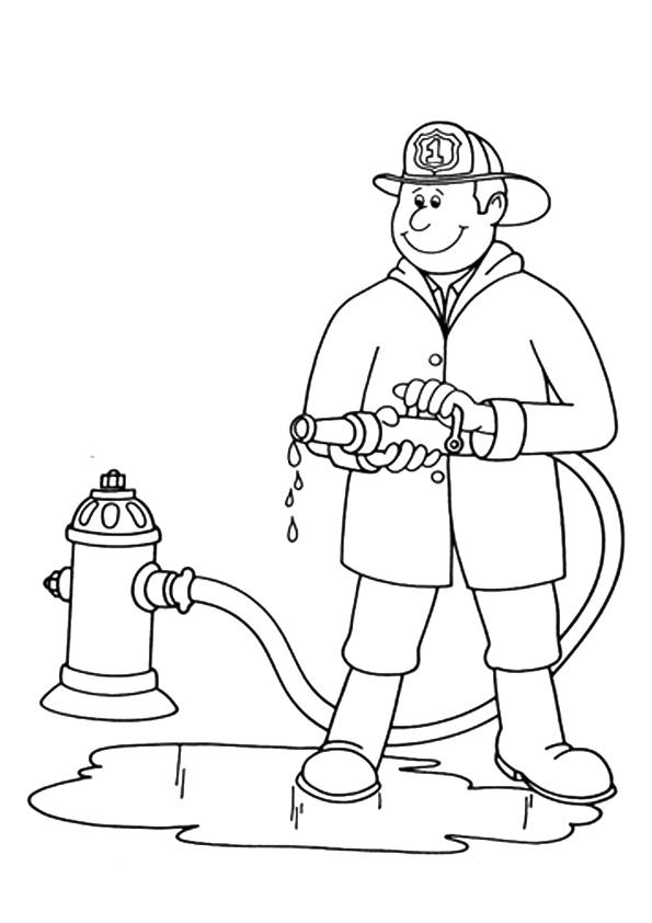 Community Helpers Coloring Pages Firefighter