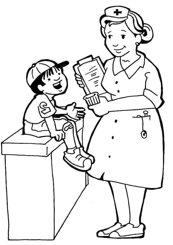 Community Helpers Coloring Pages Nurse