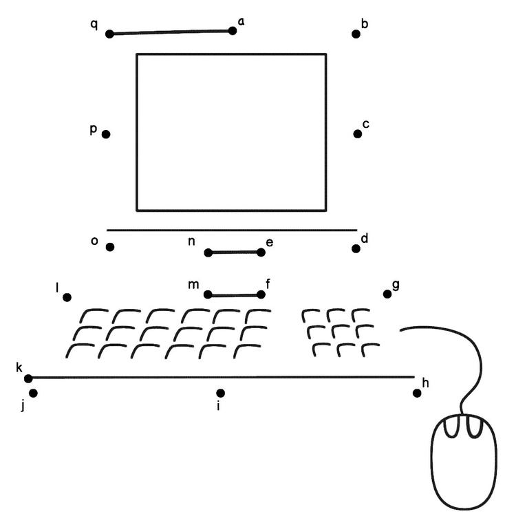 Computer Connect The Dots Page