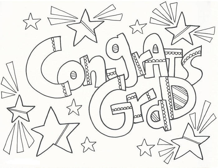 Congratulations For Graduation Coloring Pages