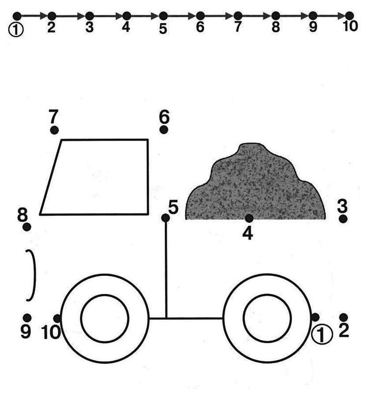 Connect The Dots Truck Vehicle Coloring Page