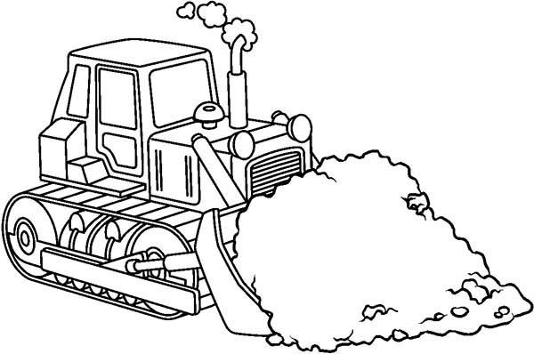 Construction Coloring Pages Bulldozer