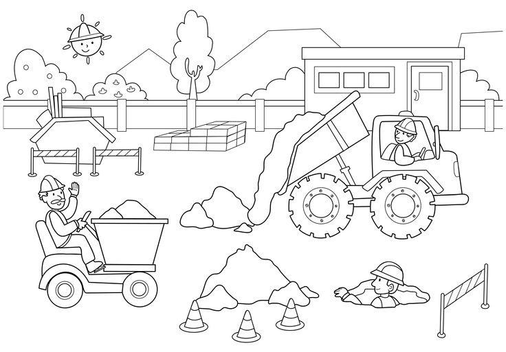 Construction Coloring Pages For Kids