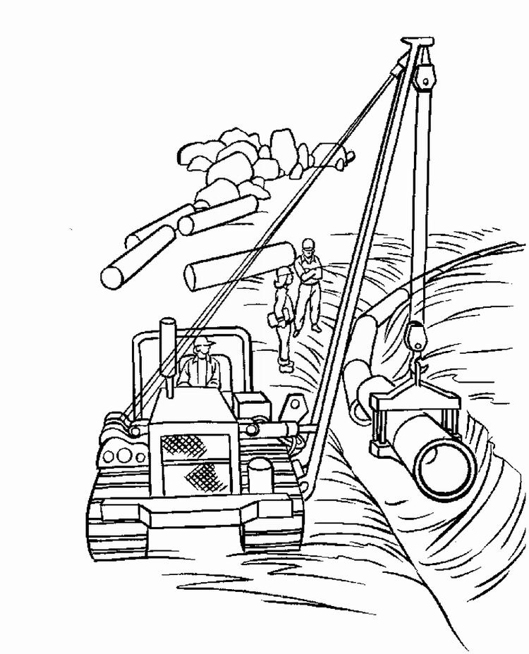 Construction Coloring Pages To Print