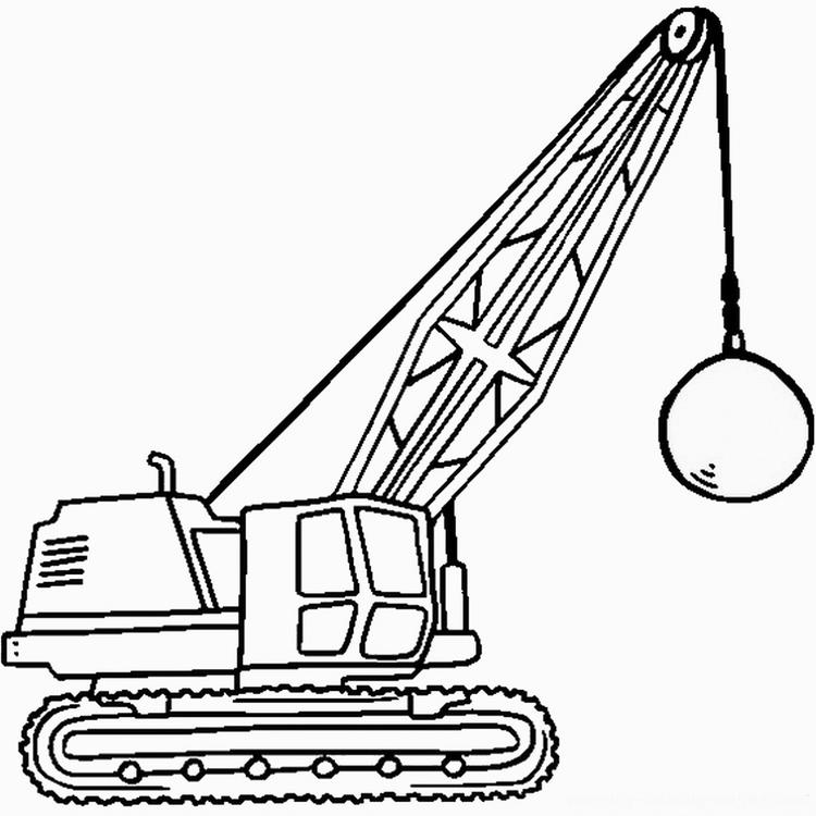 Construction Coloring Pages Wrecking Ball