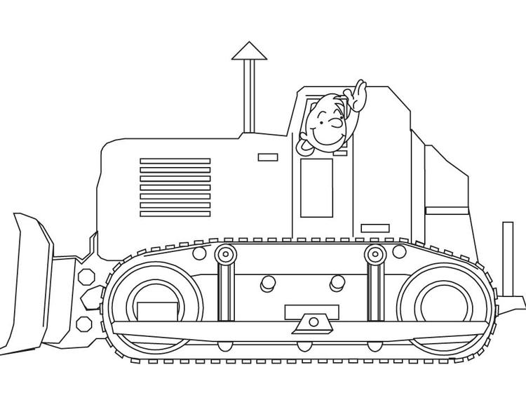 Construction Trucks Coloring Pages Printable
