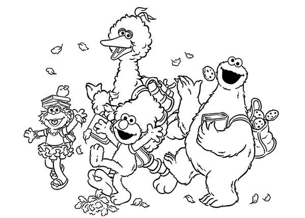 Cookie Monster And Friends Coloring Pages