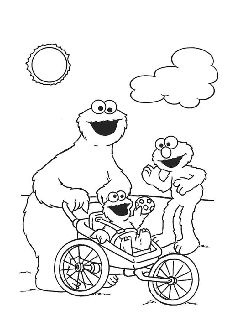 Cookie Monster Coloring Pages And Friends