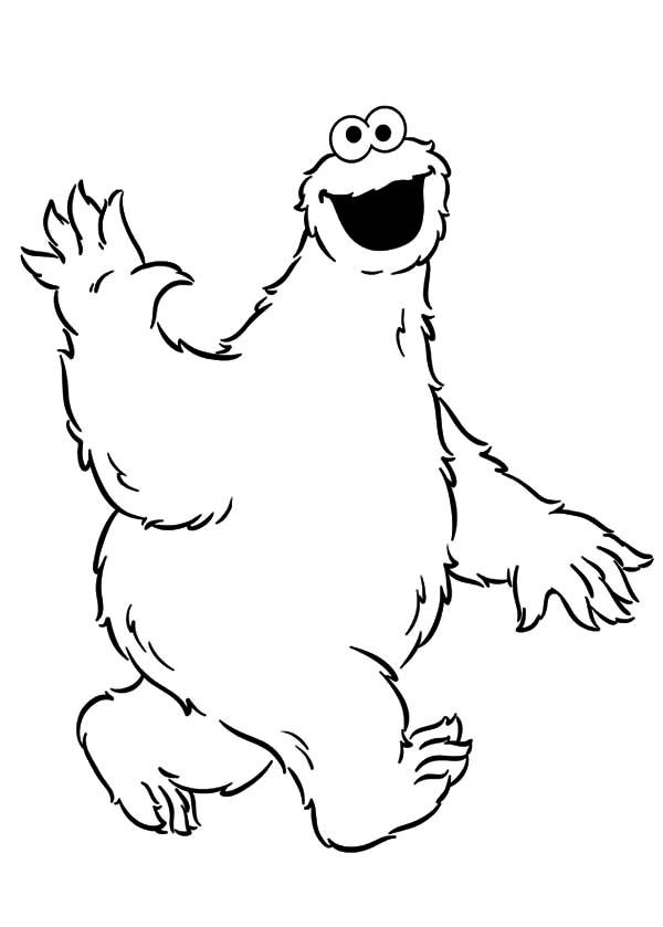 Cookie Monster Coloring Pages For Kids