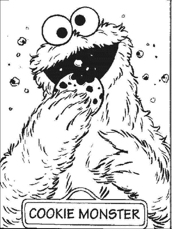 Cookie Monster Sesame Street Coloring Pages