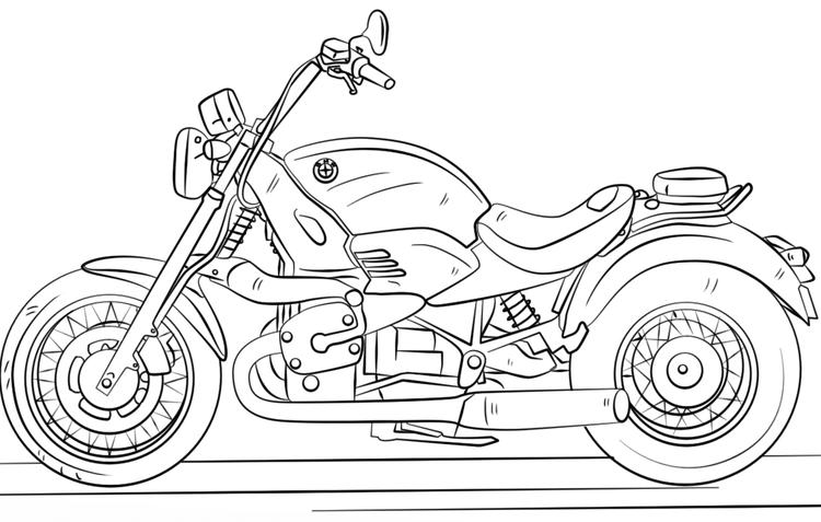 Cool Bmw Motorcycle Coloring Page