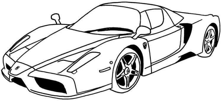 Cool Car Coloring Pages For Teens