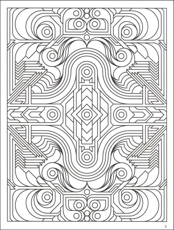 Cool Geometric Coloring Pages For Adults