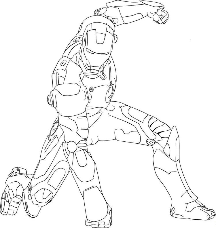 Cool Iron Man Coloring Pages
