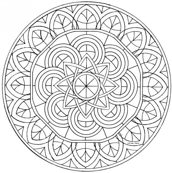 Cool Kaleidoscope Coloring Pages To Print