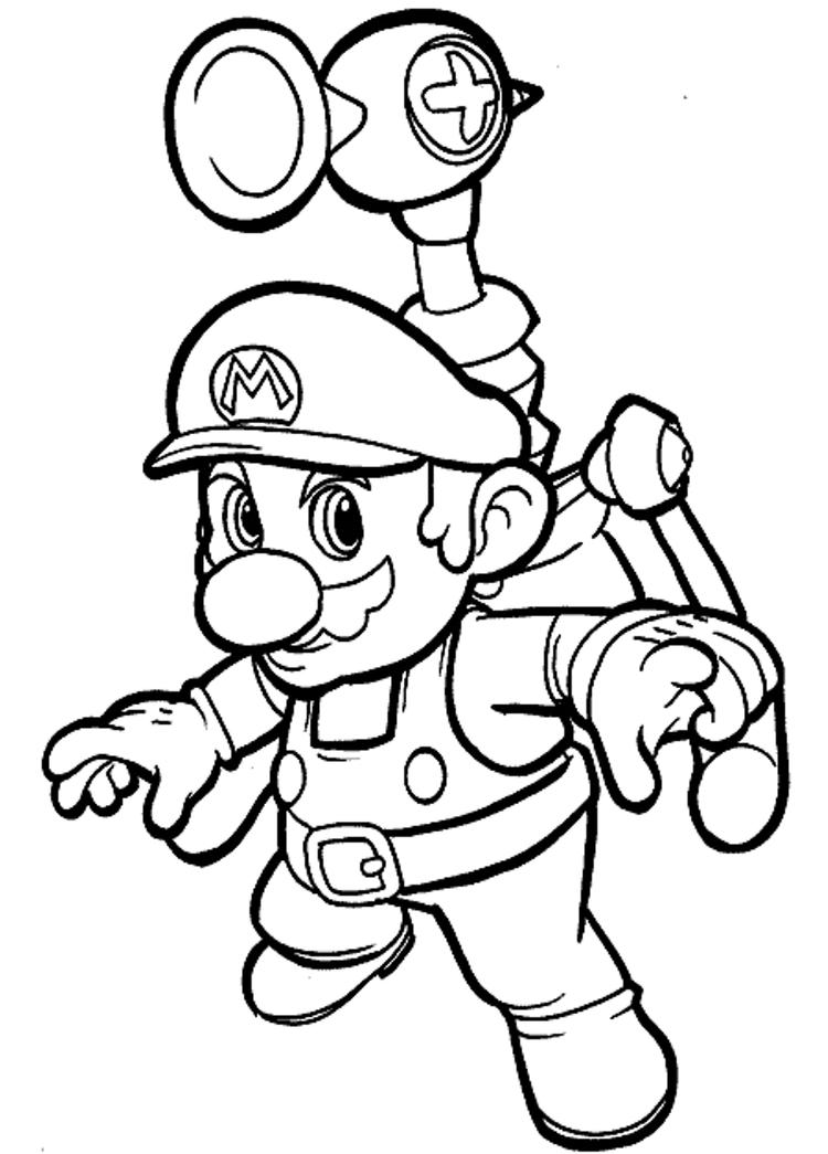Cool Mario Bros Coloring Pages