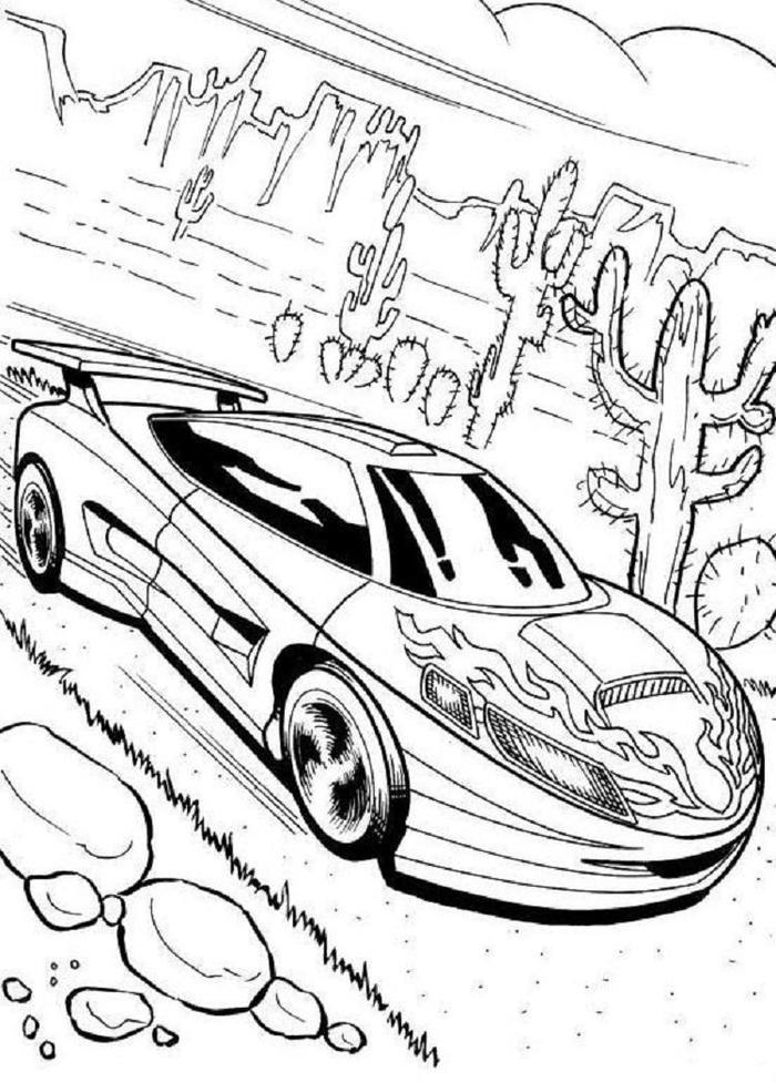 Cool Race Cars Coloring Pages