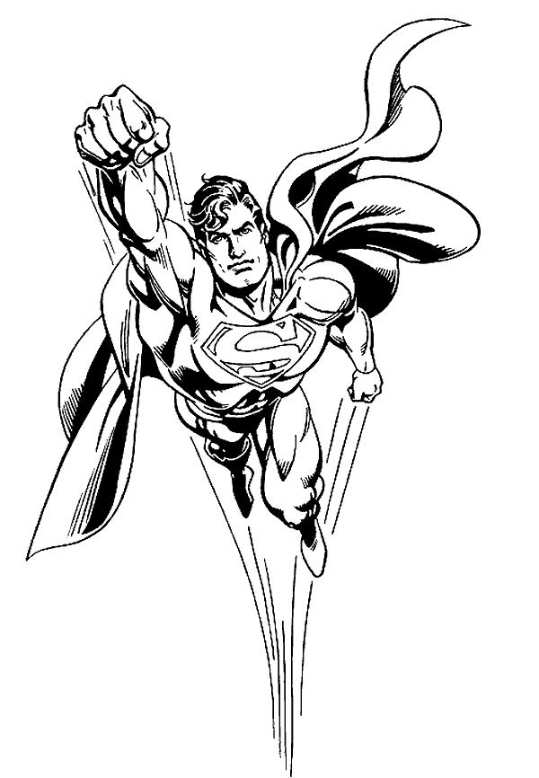Cool Superman Coloring Pages For Print