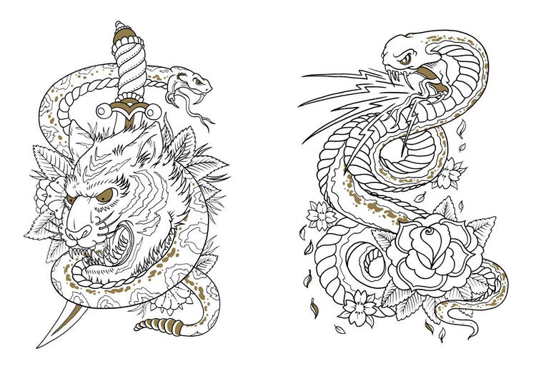 Cool Tattoo Coloring Pages To Print