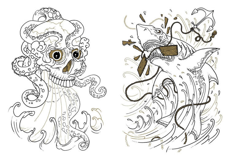 Cool Tattoo Coloring Pages