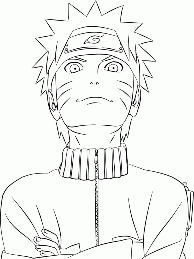 Cool Uzumaki Naruto Coloring Pages