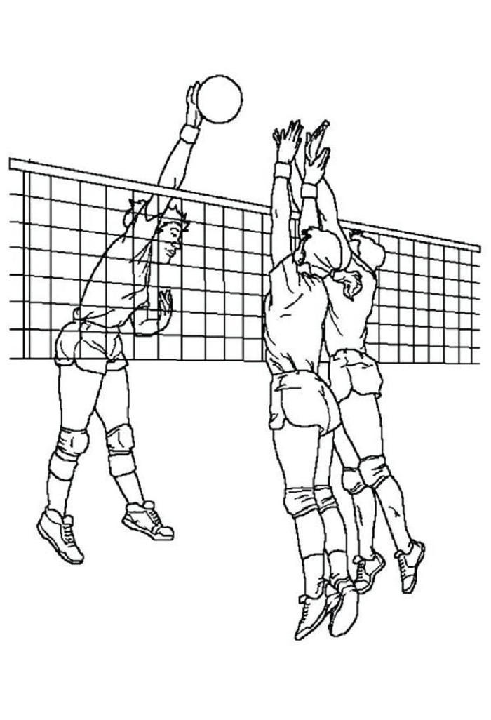 Cool Volleyball Coloring Pages