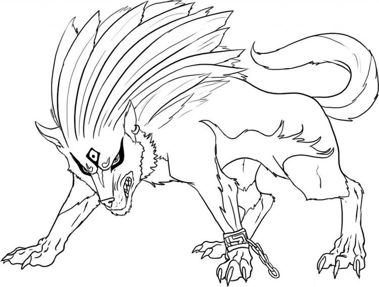 Cool Wolf Coloring Pages For Boys