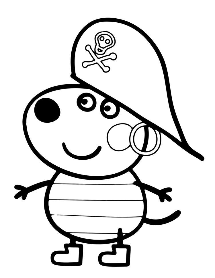 Costume Peppa Pig George Coloring Pages