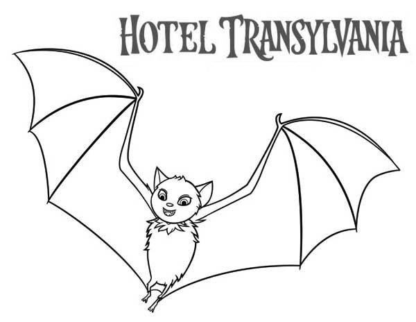 Count Dracula Become A Bat In Hotel Transylvania Coloring Pages