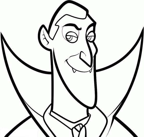 Count Dracula From Hotel Transylvania Coloring Pages