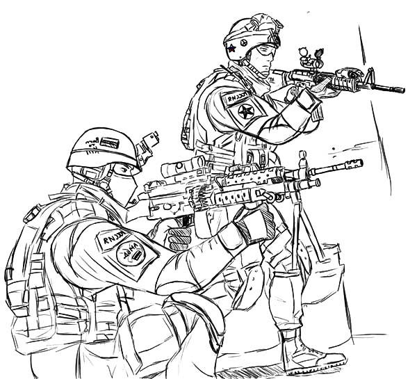 Country Hero Army Coloring Pages