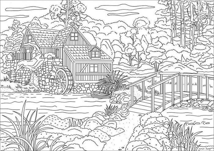 Country House Coloring Pages
