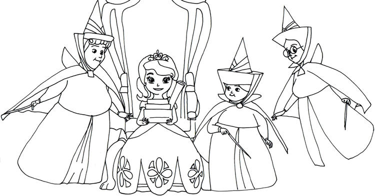 Cover Sofia The First Coloring Page Disney