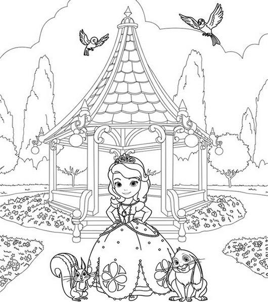 Cover Sofia The First Coloring Sheet