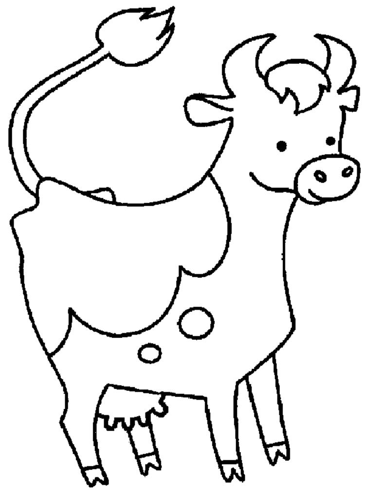 Cow Coloring Pages For Preschoolers