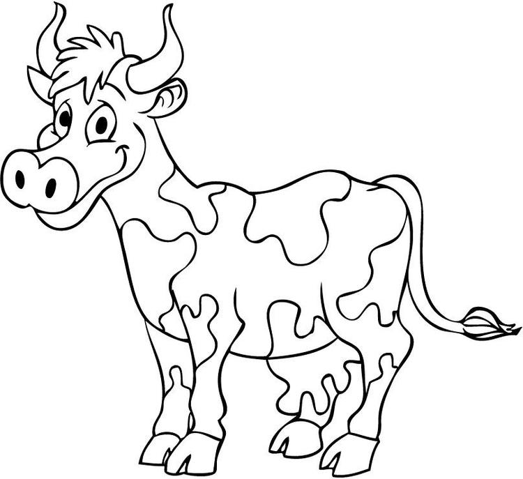 Cow Coloring Pages Free To Print