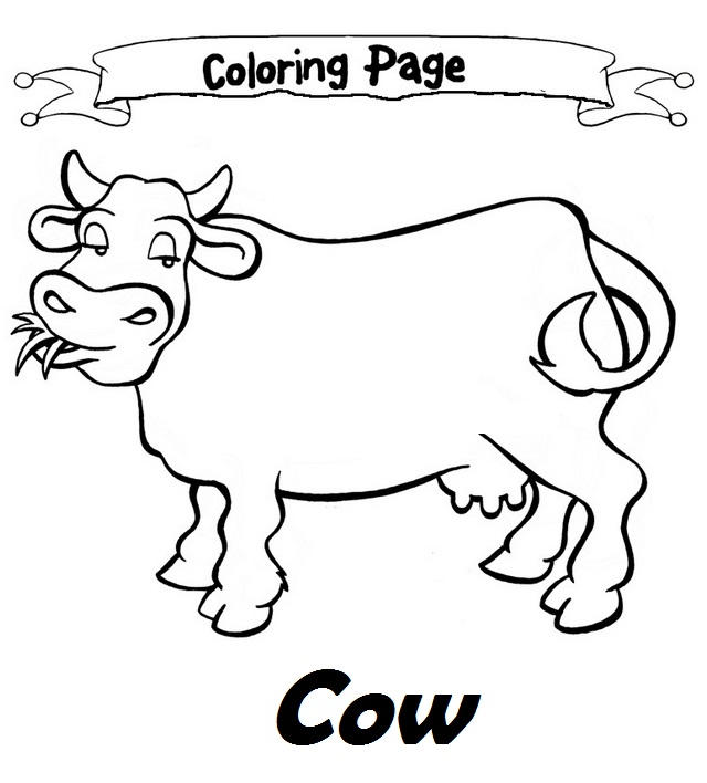 Cow Coloring Sheet For Kids