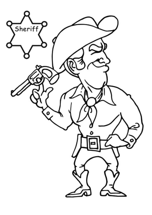 Cowboy Coloring Pages For Boys