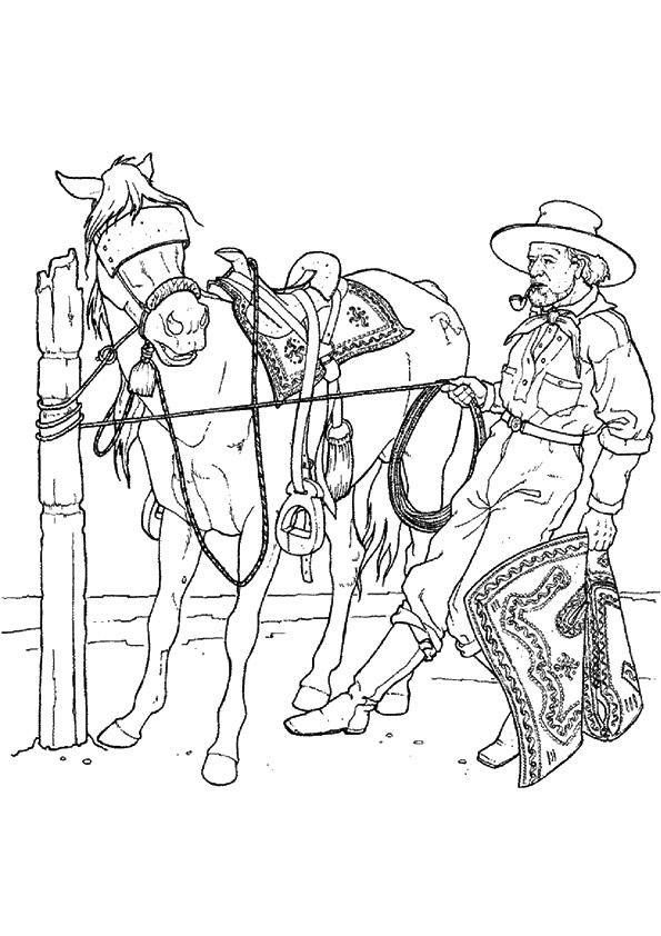 Cowboy Coloring Pages Free To Print