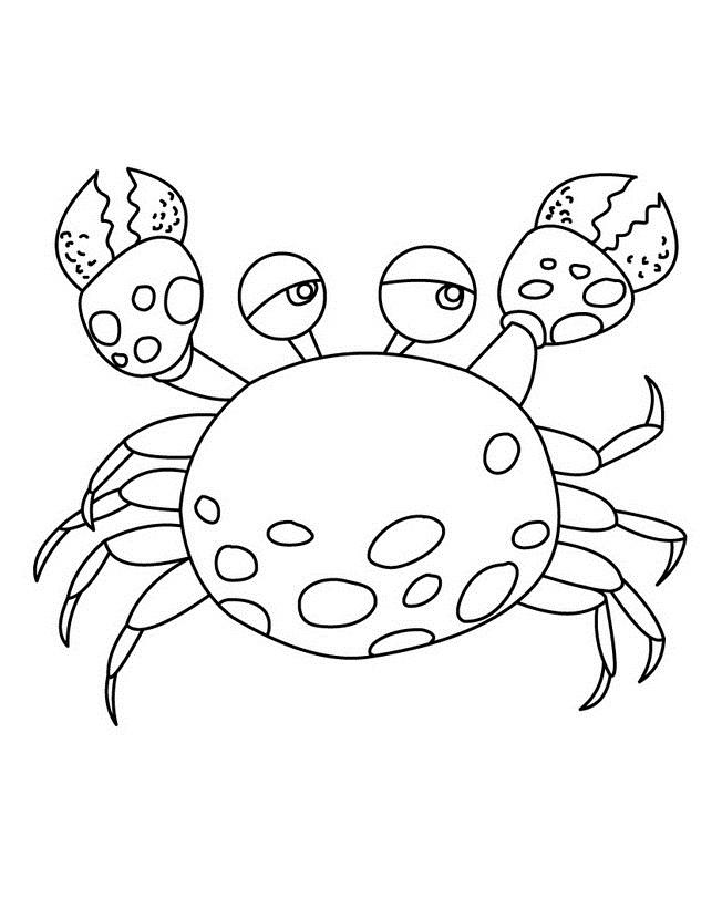 Crab Coloring Pages For Kids Printable