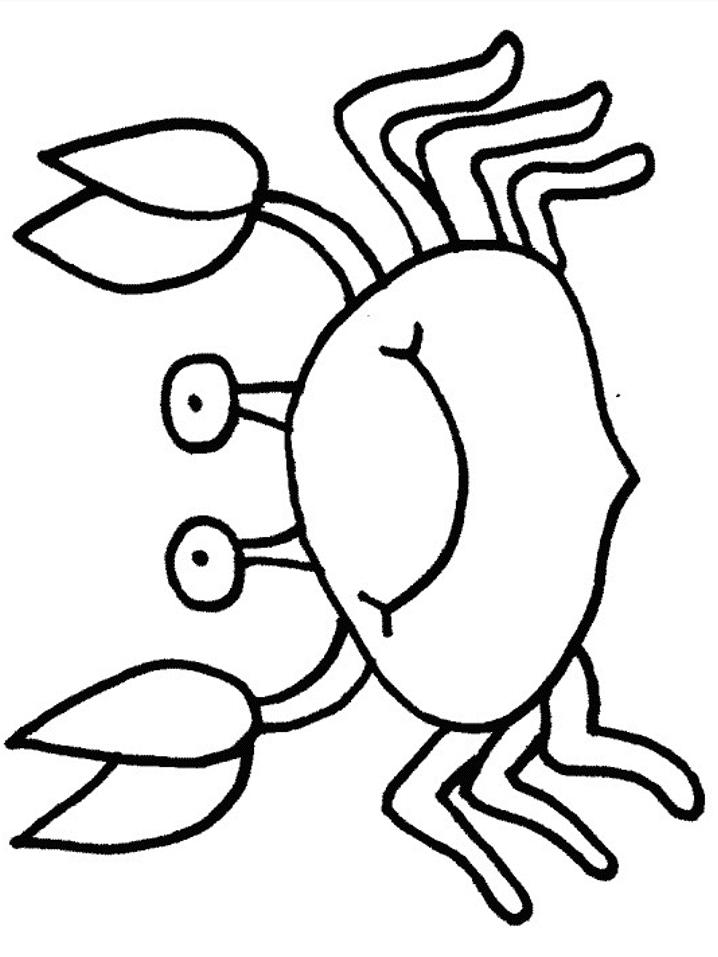 Crab Coloring Pages For Preschool