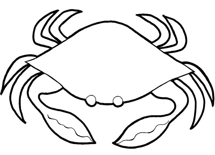Crab Coloring Pages For Preschooler